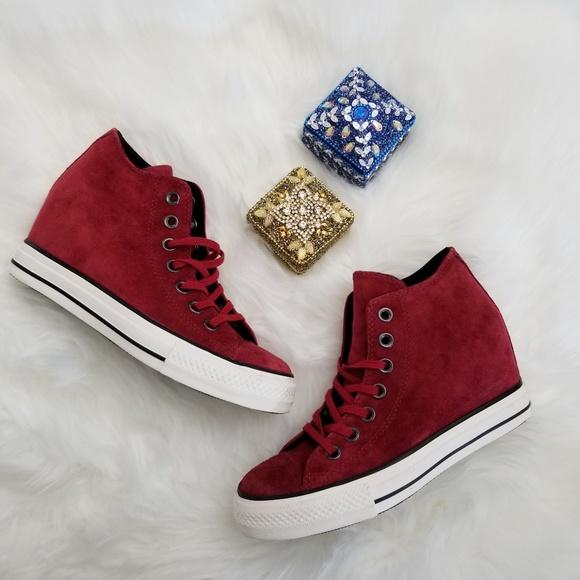 412ff198646a Converse Shoes - Rare Converse Chuck Taylor Lux Mid Hidden Wedge